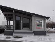 Алюминиевый профиль в деревянном доме фото. 1