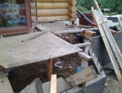 Алюминиевый витраж в фасаде деревянного дома фото 4