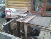 Алюминиевый витраж в фасаде деревянного дома фото 5