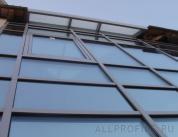 Остекление фасада алюминиевым профилем фото 12