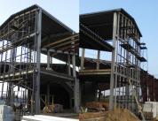 Строительство фасада спорткомплекса фото 2