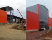 Строительство фасада спорткомплекса фото 5