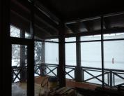 Зимняя комната отдыха. Дерево и алюминий, фото 15
