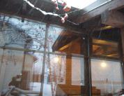 Зимняя комната отдыха. Дерево и алюминий, фото 19