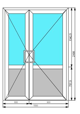 дверь металлическая двухстворчатая 1500